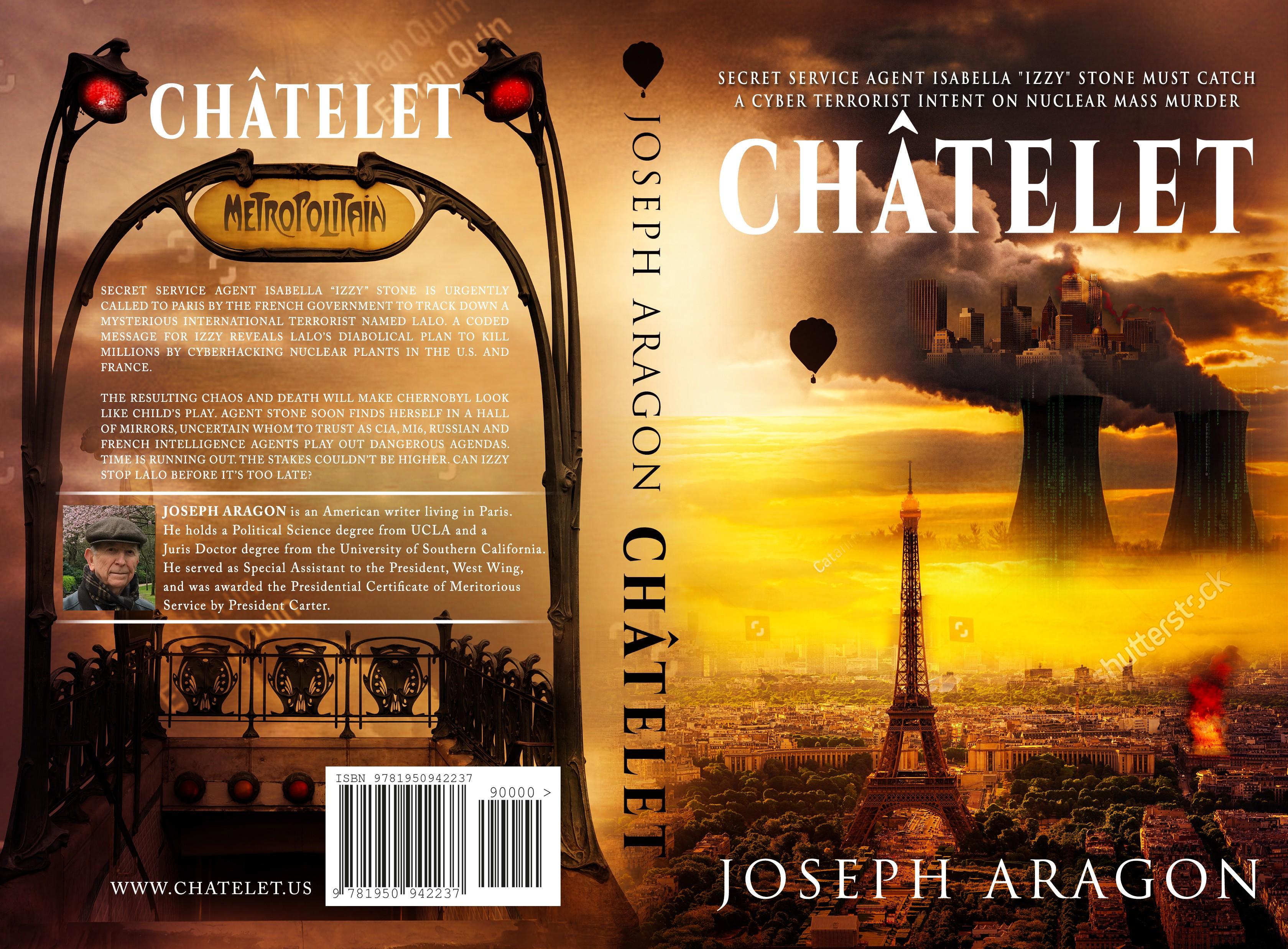 Dramatic international thriller cover