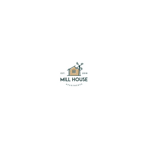 Mill House Apartments NEEDS A MODERN/RUSTIC LOGO