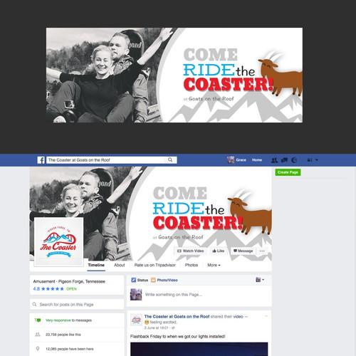 Fun banner for The Coaster