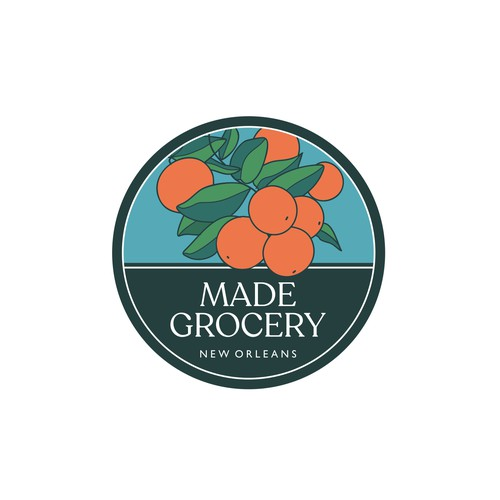 Fruit grocery logo