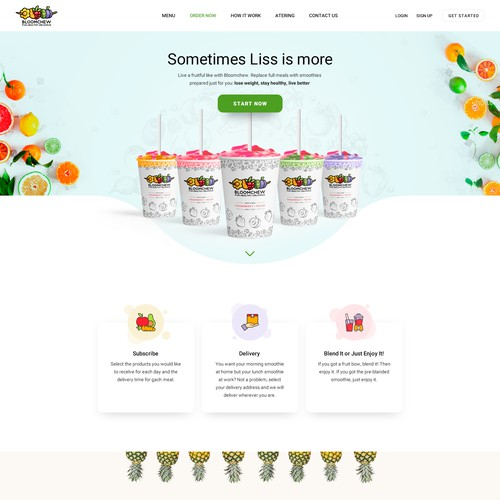 Splash hero and how it works for bloomchew.com