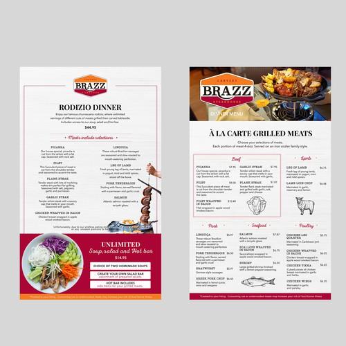 menu steak house