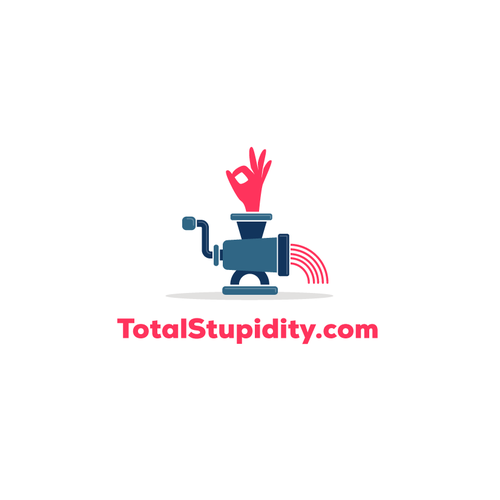 Funny logo for a website about stupidity