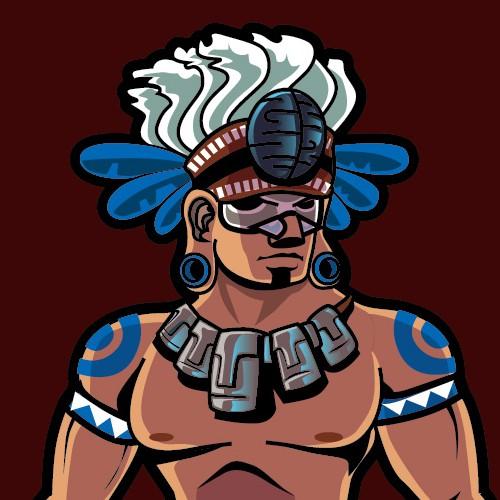 Mayan Warrior design for apparel