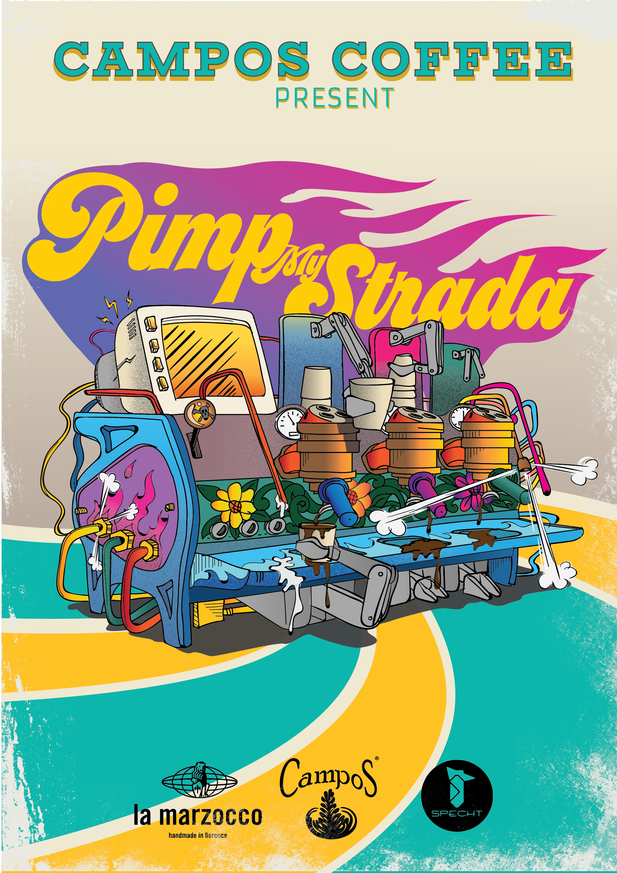 Pimp my Strada illustration (for A4, A3 and T-shirts)