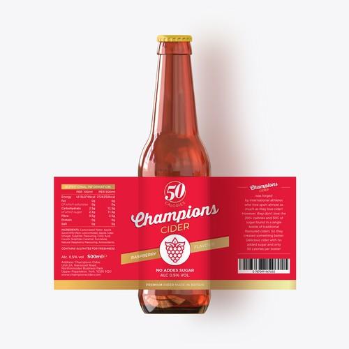 Label design fir Cider