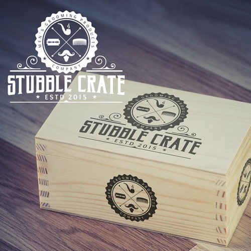 Runner-Up entry - Stubble Crate logo design