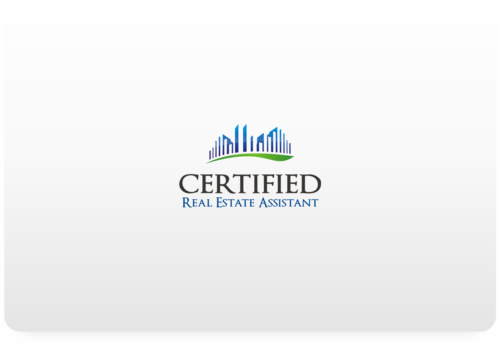 Create the next logo for Certified Real Estate Assistant