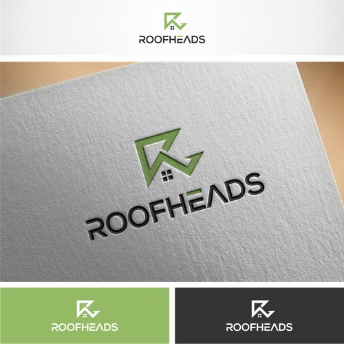R Lettermark logo for Roofheads a Real estate app