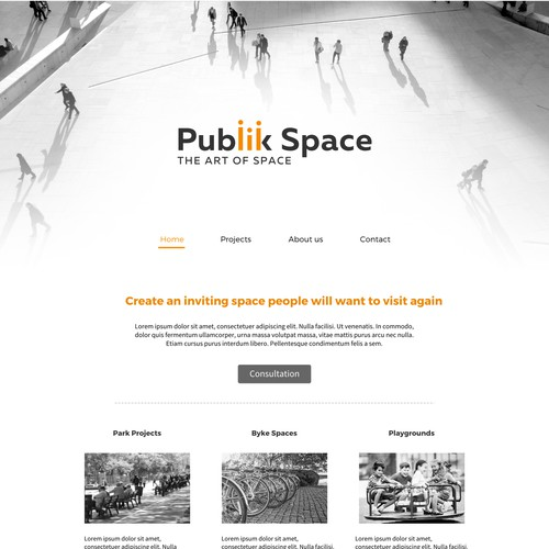Logo and website for Publik Space