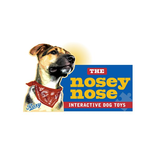 Logo featuring Roxy for Interactive Pet Toys