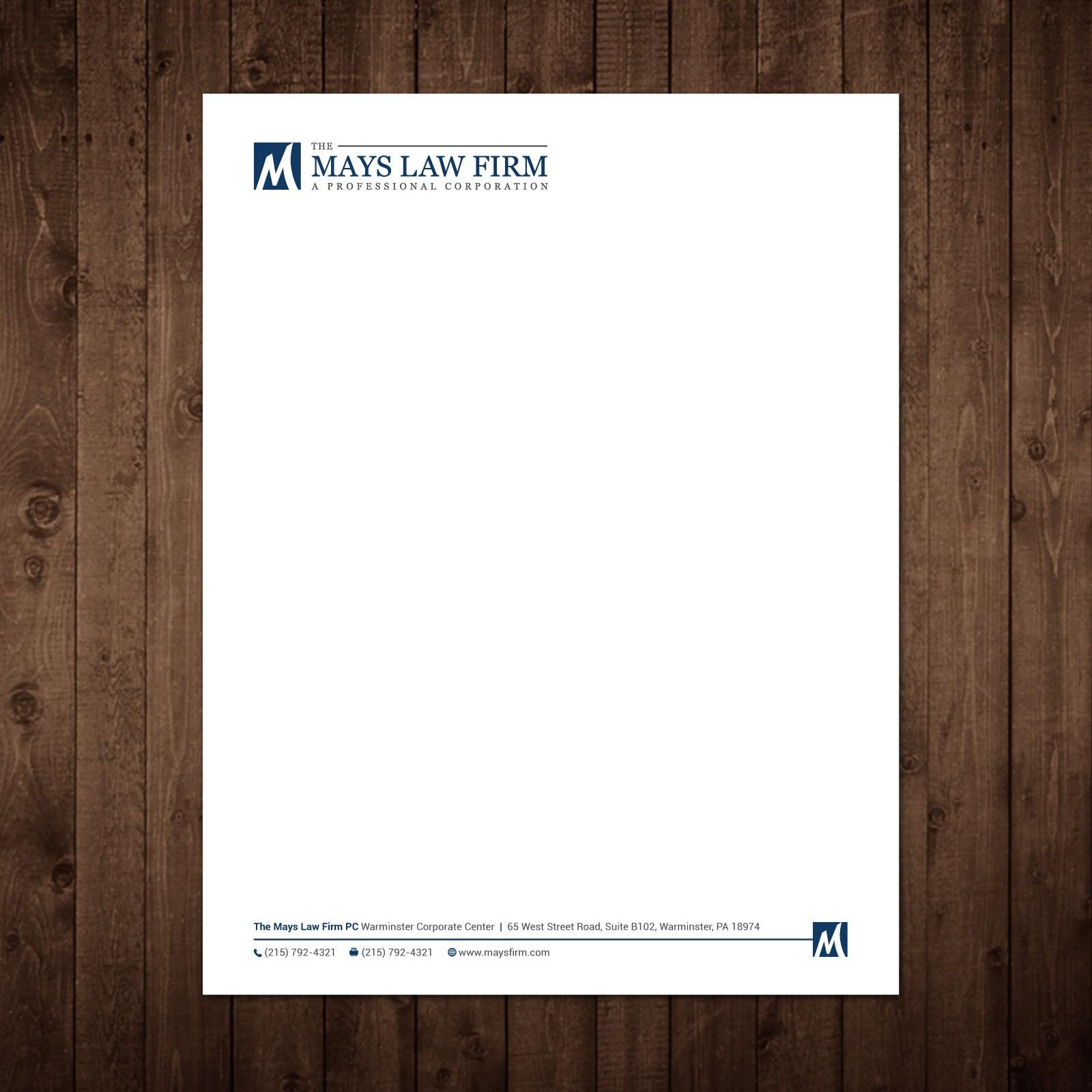 Letterhead for a Suburban Law Firm