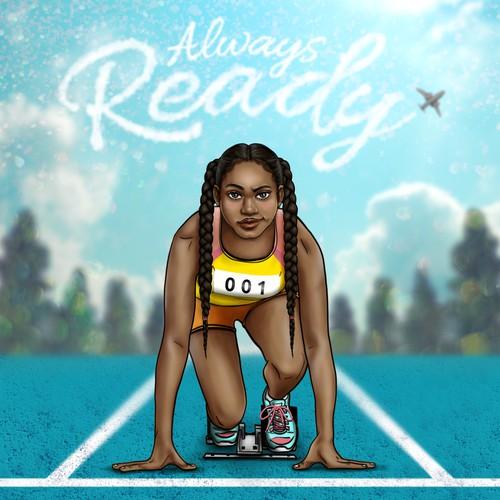 Runner Illustration for Student Folder