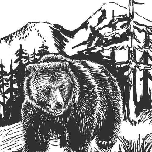B&W Book illustration