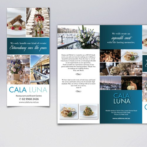 Cala Luna Restaurant and Events Center needs a new brochure design