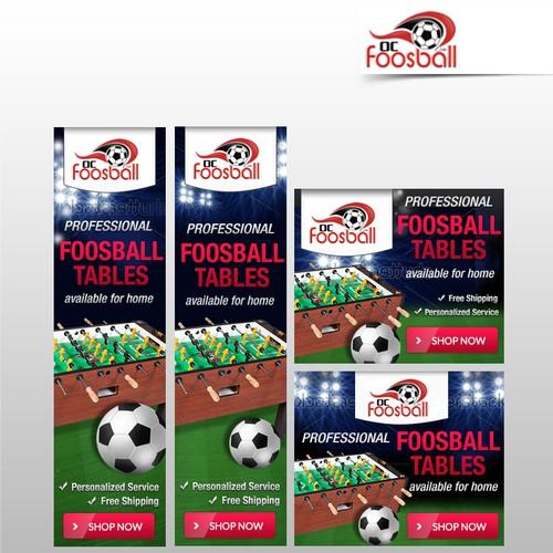 Banner set for foosball tables shop