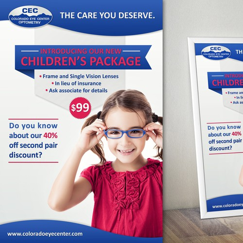 Create a POSTER to display a sales promotion for COLORADO EYE CENTER