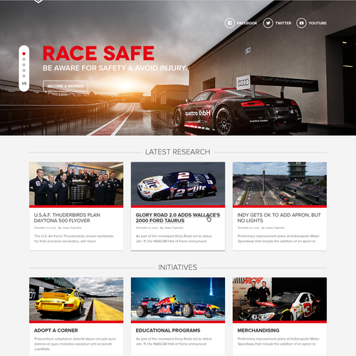 Design a cutting edge Motorsport Foundation website that will win awards!