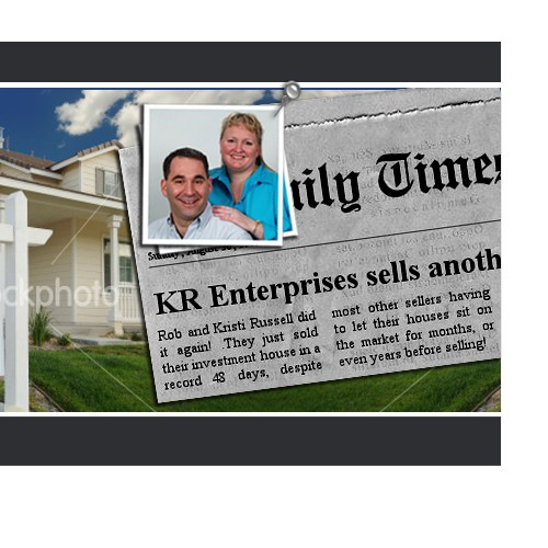 Banner ad for real estate
