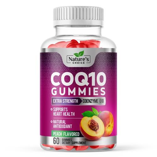Healthy CoQ10 Gummies Label