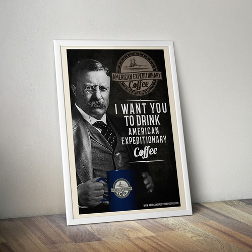 Poster concept for American Expeditionary Coffee