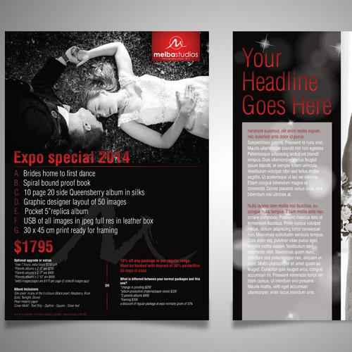 A4 flyer for wedding photography Promo