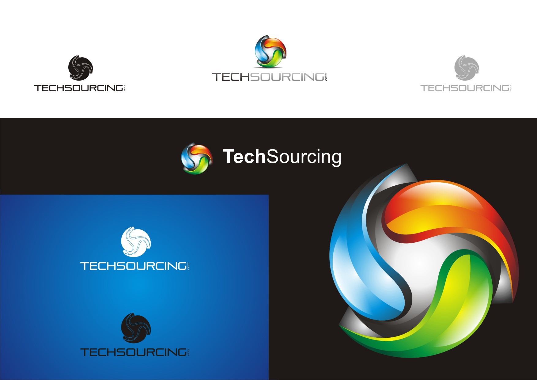 logo for TechSourcing (with our without .com; with or without capital S)