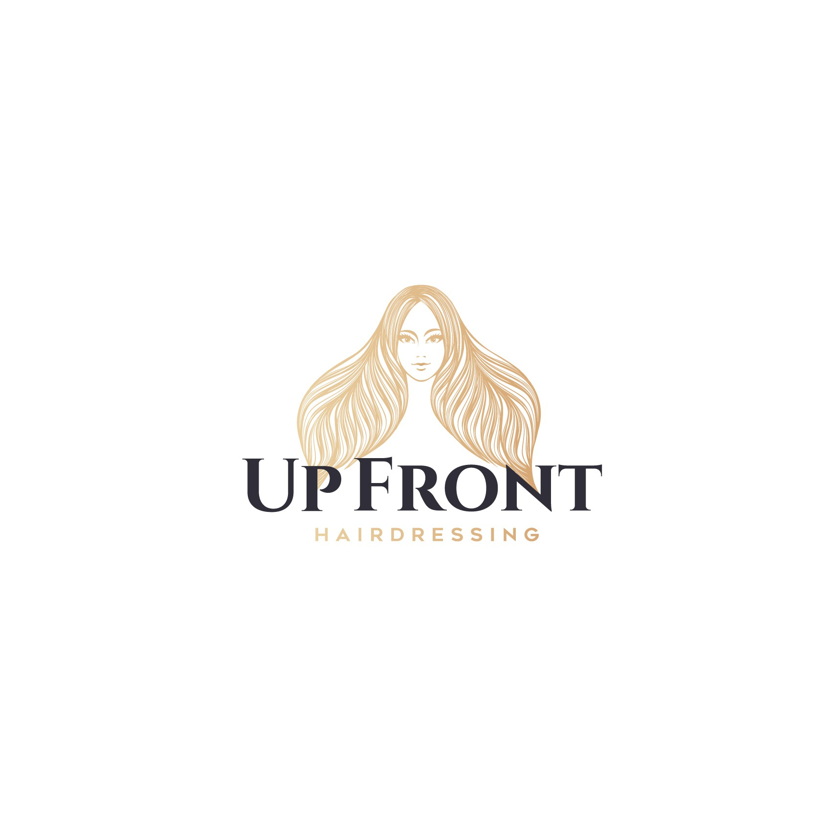 Up Front Hair Salon needs a logo to attract a classy, trendy clientele