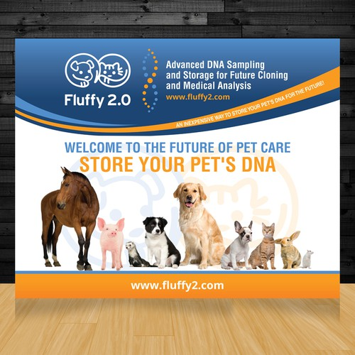 10x10 Booth Backdrop for Pet DNA Company