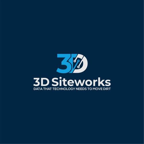 Bold logo for 3D Siteworks