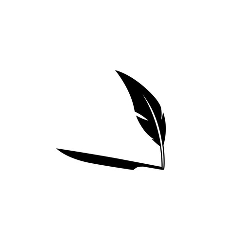 Hidden knife concept logo for Horror writer