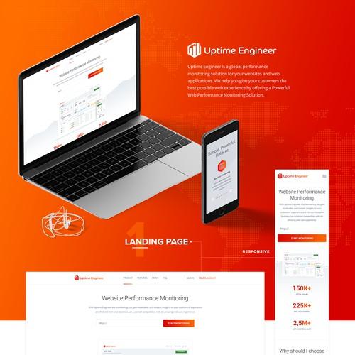 New Homepage & Dashboard Design Uptime Engineer