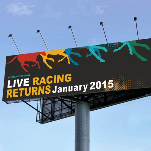 Create a new billboard look for Sam Houston Race Park and aim for the winner's circle.