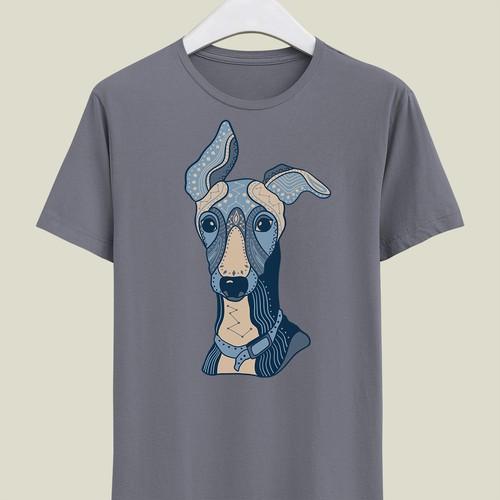 Greyhound dog T-shirt design