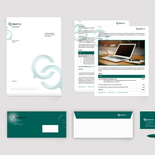 Design our new Stationery - Social Media Company