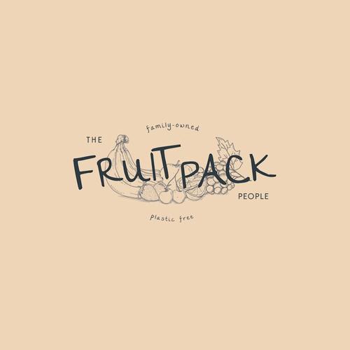 Hand drawn fruit-themed logo