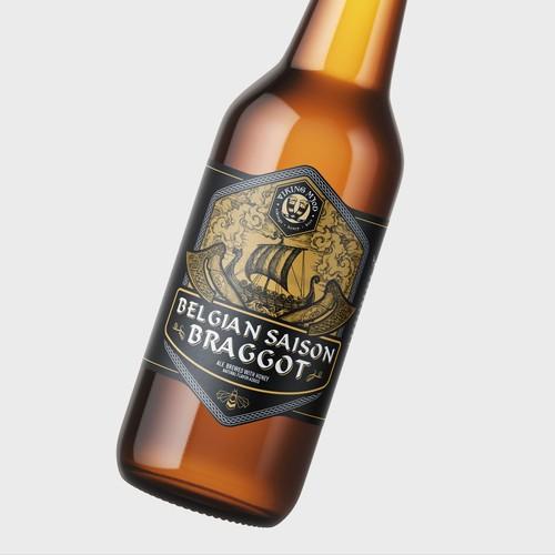 Viking Mjød Beer Label