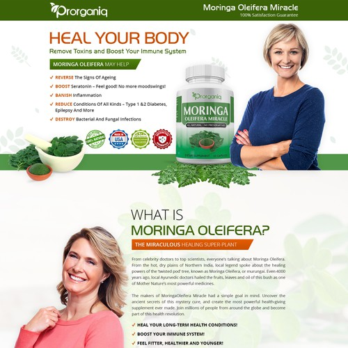 Landing Page A Health Supplement