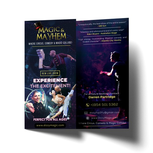 Flyer Design for Magic & Mayhem