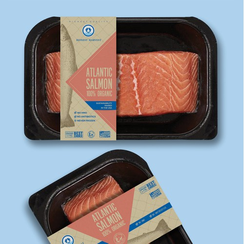 Salmon Filet Packaging for Sustainable 100% Organic Salmon