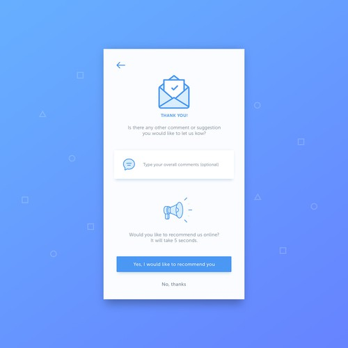 Redesign of current app screens