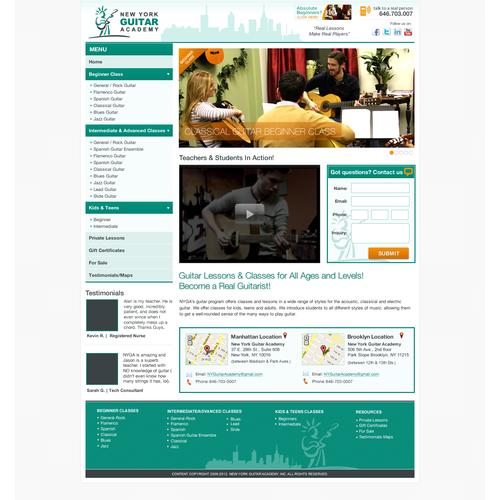www.nyguitaracademy.com needs a new website design