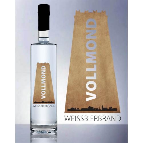 Label for our distilled beer /  Bierbrand Etikett für Brauerei