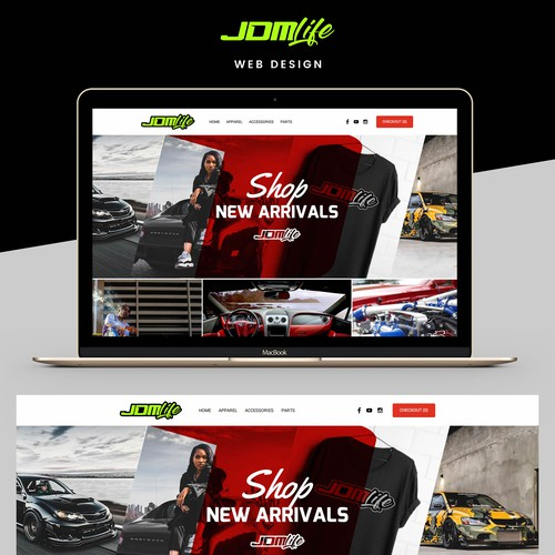 Bold web page design for automotive company