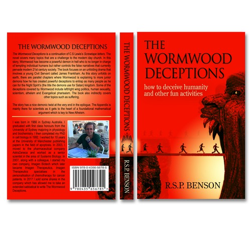 "Striking cover for novel ""The Wormwood Deceptions"""