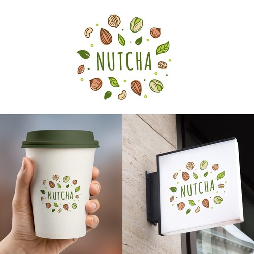 A illustrative logo for a vegan-based milk tea brand