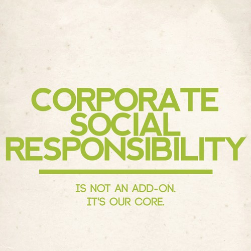 Create an inspiring poster to encourage corporate social responsibility