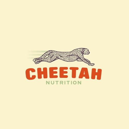 Logo with cheetah illustration