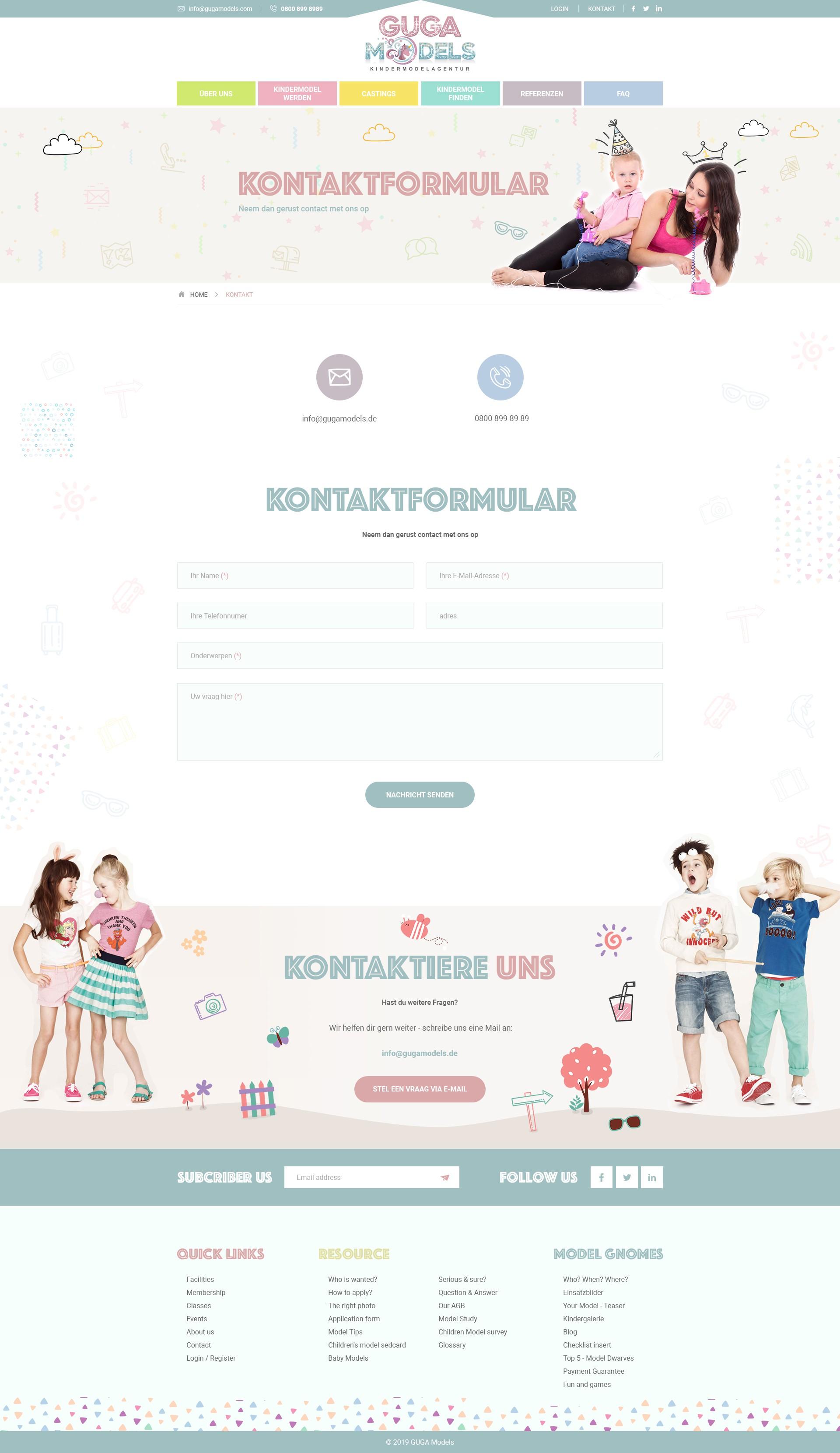Webdesign Kindermodelagentur