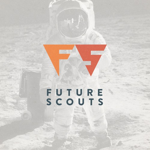 Retro Futuristic Jetpac Logo Concept for Consulting Company